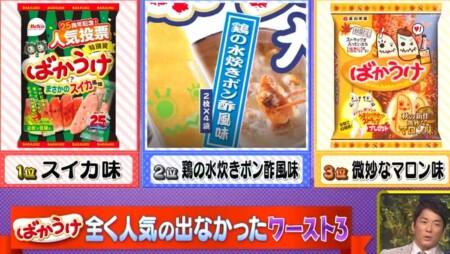 ザワつく金曜日 お菓子ばかうけの味別歴代人気ランキングベスト3は?まずい不人気ワースト3は?