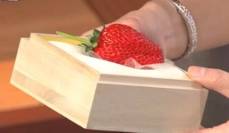ザワつく金曜日 紹介されたお取り寄せ最高級イチゴ3種類 木箱に入った美人姫