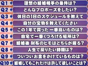 ホンマでっか 今田耕司vsアンガールズ田中 結婚適性診断の10個の質問リスト