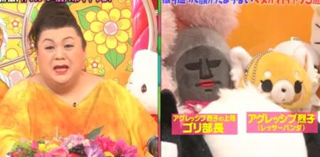 マツコの知らない世界 紹介されたサンリオキャラクター一覧 マツコとアグレッシブ烈子とゴリ部長