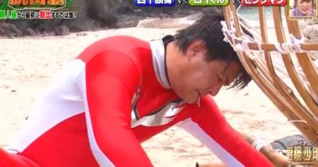 冒険少年 脱出島 セシタマン(天竺鼠・瀬下)の良い子は絶対にマネしちゃダメなシーン 大工
