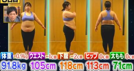 それって実際どうなの課 ビニールボールダイエットのダイエット効果は?3日目の餅田コシヒカリの体重・ウエストなど