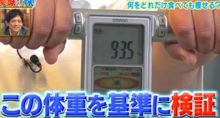 それって実際どうなの課 8時間ダイエットで好きな物を食べまくると効果は?チャンカワイの検証前の体重
