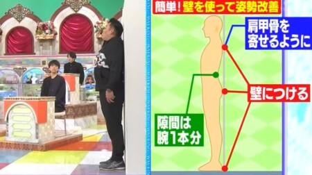 林修の今でしょ講座 ウォーキングの効果的な歩き方や時間は?壁を使った姿勢改善方法