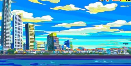 林修の今でしょ講座 プロが選ぶ日本アニメの歴史を変えたすごいアニメ14作品 グレートプリテンダーの浮世絵・版画的な背景