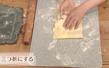 グレーテルのかまど 名探偵コナンのレモンパイレシピの作り方 パイ生地の作り方 生地を三つ折りにする