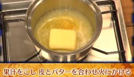 グレーテルのかまど 名探偵コナンのレモンパイレシピの作り方 レモンカードの作り方 果汁、皮、バターを合わせる