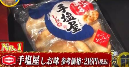 教えてもらう前と後 酒の肴になるお菓子No.1決定戦結果 亀田製菓 手塩屋しお味