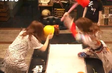 女子メンタル2 菊地亜美vsファーストサマーウイカ ガチ喧嘩叩いてかぶってジャンケンポンが面白い 振りかぶるウイカ