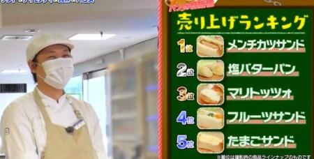 帰れマンデー 東京激うまグルメ自販機旅で紹介された自販機 クリスベーカリー パン自販機売上ランキング