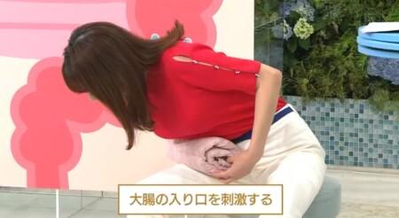 NHKあさイチ 発酵食品ではなく発酵性食物繊維で腸活?腸の部分別腸活エクササイズは丸めたバスタオルをお腹に置いて体を倒す