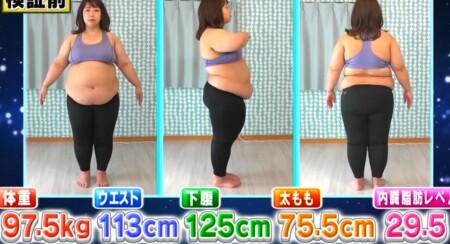 それって実際どうなの課 ツボ押しダイエットの効果は痩せる?餅田コシヒカリ検証前の身体測定データ