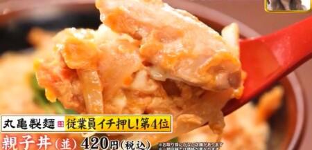 ジョブチューン 2021 丸亀製麺メニュー人気ランキングベスト5の合格不合格ジャッジ結果は?第4位 親子丼