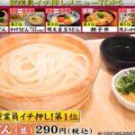 ジョブチューン 2021 丸亀製麺メニュー人気ランキングベスト5の合格不合格ジャッジ結果は?