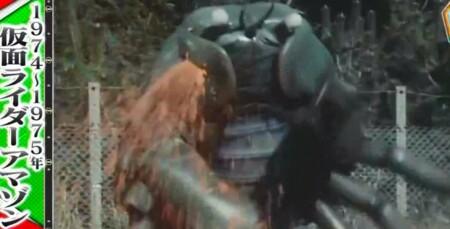 林修の今でしょ講座 今仮面ライダーでしょ 歴代仮面ライダーが特撮の歴史を変えた名シーン一覧 仮面ライダーアマゾン 血しぶき