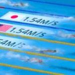競泳の泳ぐスピードリアルタイム表示はどうやって計算している?AIカメラで秒速表示