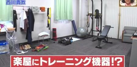 ダウンタウンDX 西川貴教のライブの楽屋にはトレーニング機器が20種類