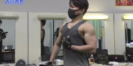 ダウンタウンDX 西川貴教の鍛え上げた筋肉 ライブ前に1時間30分の筋トレ
