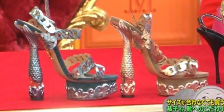 マツコの知らない世界 叶姉妹の履けない靴コレクション シャーロット・オリンピアの人魚姫の靴