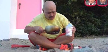 水曜日のダウンタウン クロちゃん部屋ごと無人島生活ダイジェスト カップヌードルを食べるのに小鍋で湯を沸かす