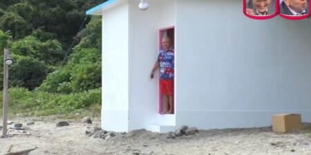 水曜日のダウンタウン クロちゃん部屋ごと無人島生活ダイジェスト 部屋のどこでもドアを開けると無人島