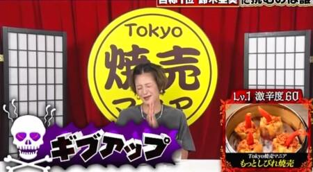 激辛最強芸能人No.1「東京辛強王」決定戦の出演者と結果を総まとめ。西山茉希の結果