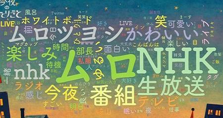 NHK今夜のひとりごと 番組のツイッタートレンド表示システム「ワードクラウド」一覧