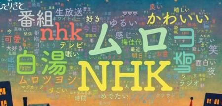 NHK今夜のひとりごと 番組のツイッタートレンド表示システム「ワードクラウド」 第1回放送その2