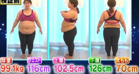 それって実際どうなの課 家事ダイエットのカロリー消費で痩せる?餅田コシヒカリ検証結果 検証前の体重