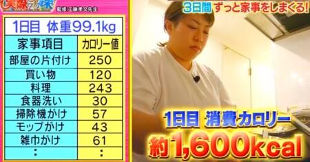 それって実際どうなの課 家事ダイエットのカロリー消費で痩せる?餅田コシヒカリ検証結果 1日目家事リスト