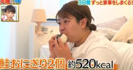 それって実際どうなの課 家事ダイエットのカロリー消費で痩せる?餅田コシヒカリ検証結果 2日目朝食