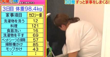 それって実際どうなの課 家事ダイエットのカロリー消費で痩せる?餅田コシヒカリ検証結果 3日目家事リスト