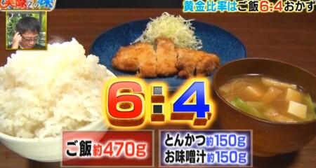 それって実際どうなの課 白米黄金比率ダイエットのチャンカワイ検証結果 1日目食事 とんかつ