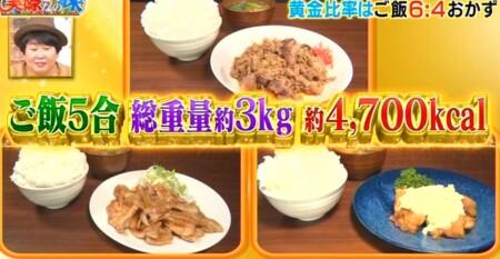 それって実際どうなの課 白米黄金比率ダイエットのチャンカワイ検証結果 2日目の総食事量とカロリー