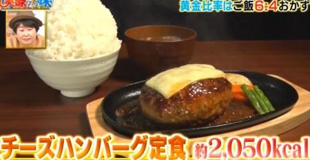 それって実際どうなの課 白米黄金比率ダイエットのチャンカワイ検証結果 3日目食事 チーズハンバーグ