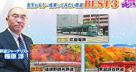 チコちゃん 大先生アワー第11弾 もう一度乗ってみたい鉄道ベスト3