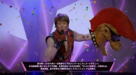 マスクドシンガー日本版 出演者や歌唱曲などのネタバレ。あのコスプレの正体は誰?EP03 マスクを脱いで歌う哀川翔