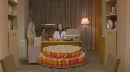 ラジエーションハウス2 大森渚先生(和久井映見)のクセ強ドリンク&謎の食べ物まとめ 第1話 大森先生と大量の七味唐辛子