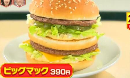 林修のニッポンドリル 2021年 マクドナルド人気バーガー売上ランキング上位ベスト10一覧 第2位 ビッグマック